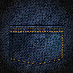Texture of denim with a pocket.