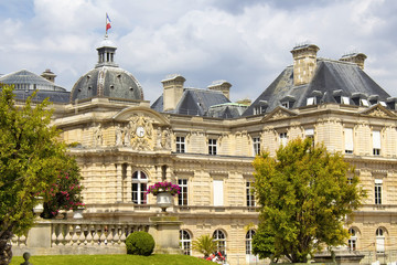 Luxembourg Palace in Paris. Former royal residence, now repurposed & used as the meeting place for the French senate.