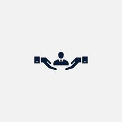 Human icon simple illustration