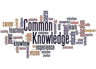 Common Knowledge, word cloud concept 3