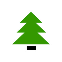 Vector flat icon christmas tree