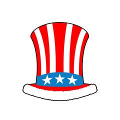 Patriotic Santa Claus cap. Winter Hat Uncle Sam. Christmas Cylin
