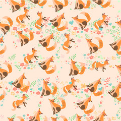 vector illustration of a cute fox
