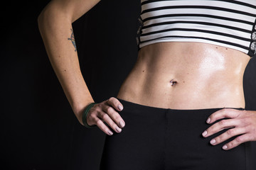 Press belly girl athletes