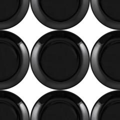 Black plate seamless pattern