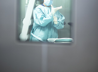 Operating theater door