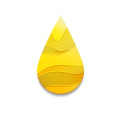 Yellow Oil Drop with Waves