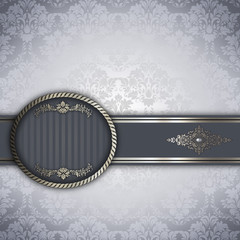 Wall Mural - Luxury vintage background with decorative border.