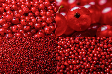 image set of red currant texture