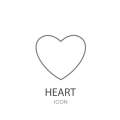 Heart icon vector. Concept of Valentine Day