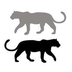 Leopard style vector illustration Flat set