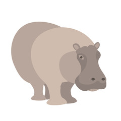 Hippo vector illustration style Flat