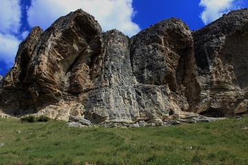 Pictorial Rocks near Bakhchisaray city, Crimea