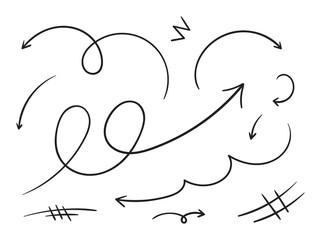 hand-drawn arrows set