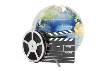 world cinema concept, 3D rendering
