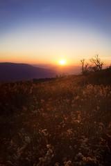 Sunset over Blue Ridge Mountains in Virginia