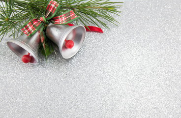 Christmas bells decoration with festive background