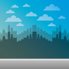 cityscape pixelated isolated icon vector illustration design