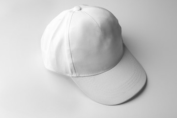 Blank baseball cap on white background