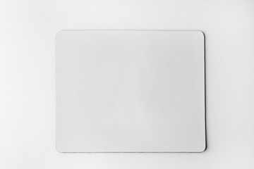 Blank mouse mat on white background