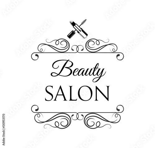 Beauty salon label mascara for eyelashes eye makeup for 4 elements salon