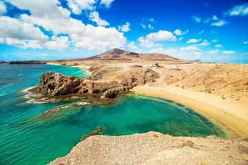 Papiers peints Iles Canaries Papagayo Beach, Lanzarote, Canary Islands