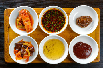 Korean sauces and condiments