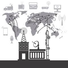 telecomunication system service international vector illustration eps 10