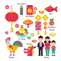 Chinese New Year holiday traditions concept