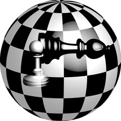 Bishop and pawn in a ball