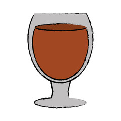 drawing glass cocktail drink design style vector illustration eps 10