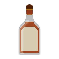 tequila bottle alcoholic beverage vector illustration eps 10