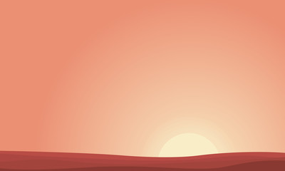 Background of desert at sunset landscape