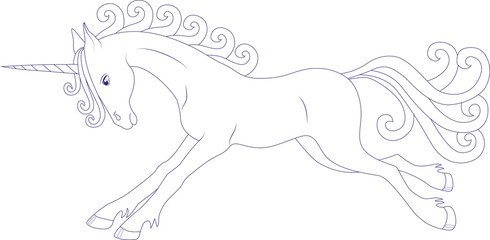 prancing fairy unicorn, coloring page