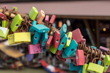 Colorful of lock.