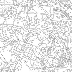 black and white drawing of a map of the city of Kiev