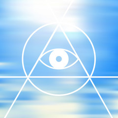 All-seeing eye. The symbol of Freemasonry