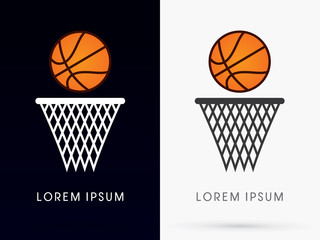 Basketball graphic vector