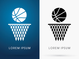 Basketball graphic vector