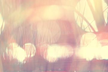 Vintage toned blurred background bokeh