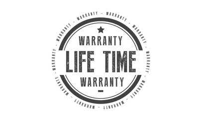 life time warranty icon vector