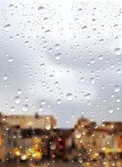 Raindrops Trough Window