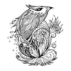 art of mix animals hand drawn design, vector illustration