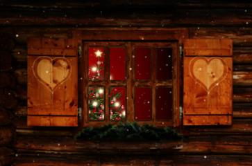 Weihnachtsfenster Wall mural