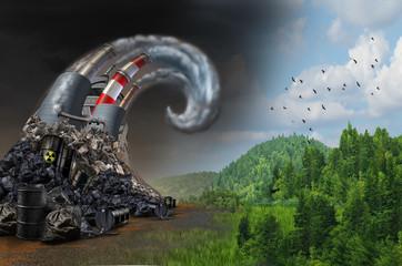 Pollution Wave Concept