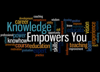 Knowledge Empowers You, word cloud concept 3