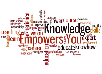 Knowledge Empowers You, word cloud concept