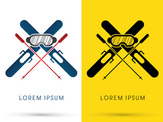 Ski, equipment composition vector.
