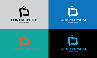 abstract shopping bag logo