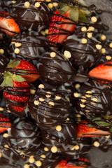 fresh strawberry dipping chocolate